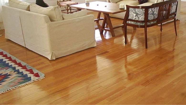 piso de madera de encino
