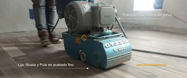 máquina lijadora y pulidora de pisos de madera