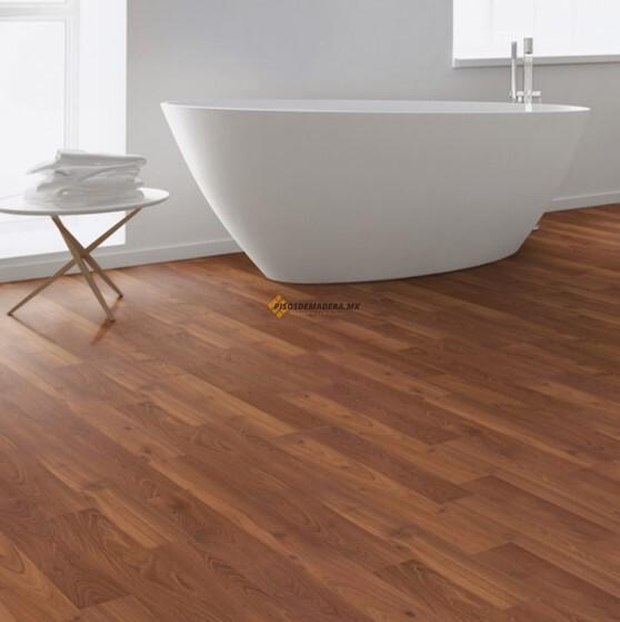 piso laminado color nogal